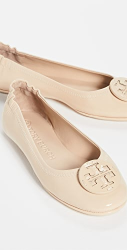 Tory Burch - Minnie Travel Ballet Flats With Leather Logo