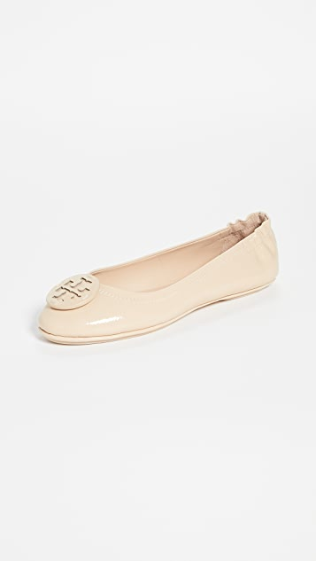 Tory Burch Minnie Travel Ballet Flats With Leather Logo
