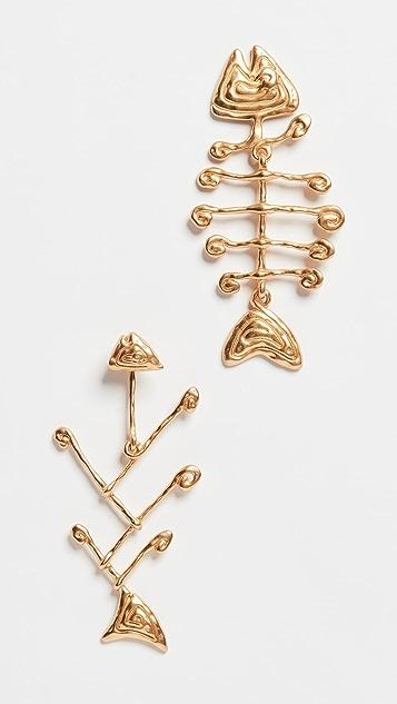 Tory Burch Wire Fish Earrings