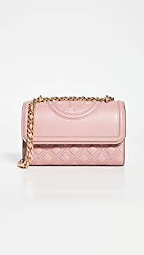 토리버치 Tory Burch Fleming Small Convertible Shoulder Bag,Pink Magnolia