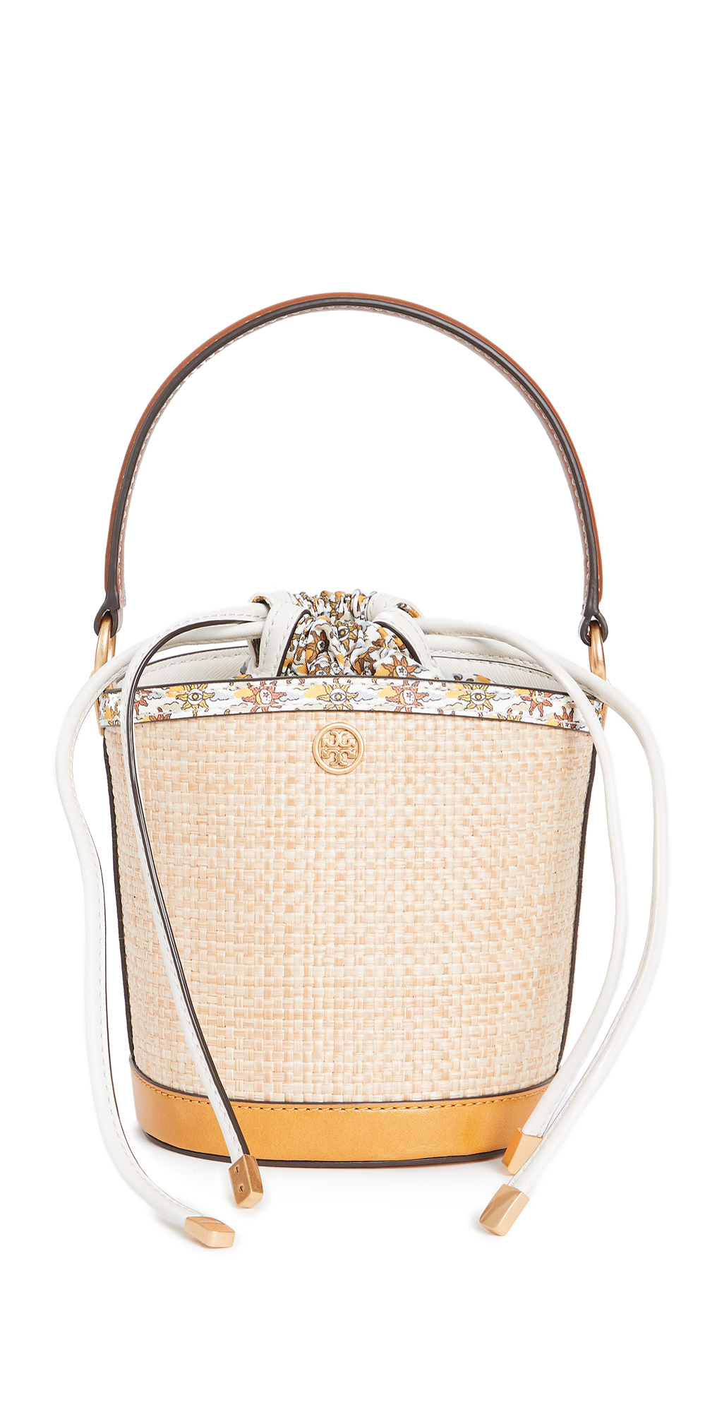 Tory Burch Robinson Straw Mini Bucket Bag
