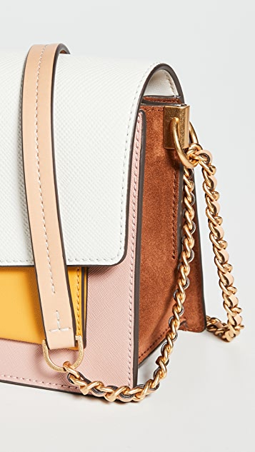 Tory Burch Robinson Colorblock Double Strap Convertible Bag