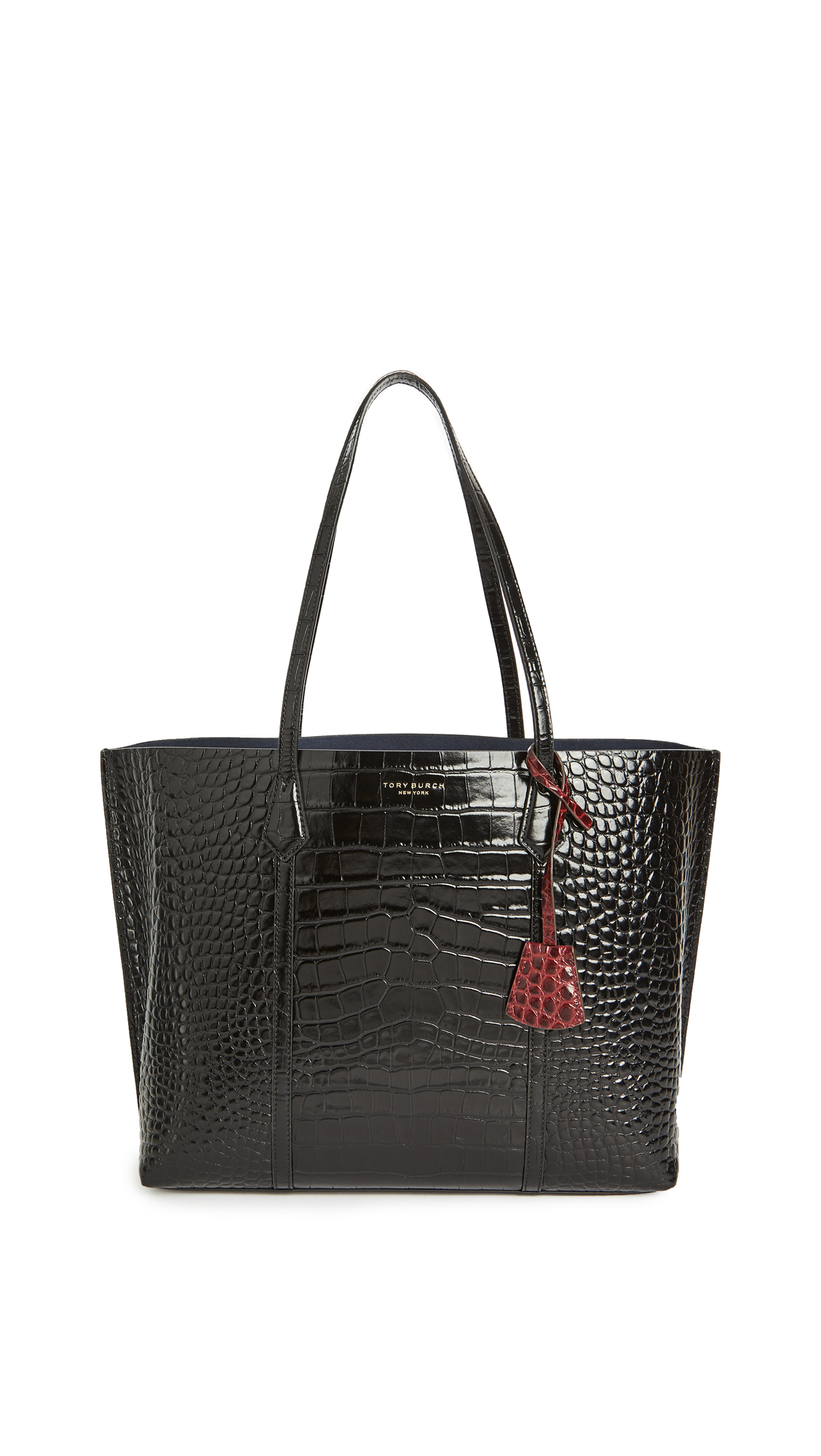 Tory Burch Perry Embossed Triple-compartment Tote