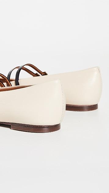 Tory Burch 2 束带 5mm 尖头平底鞋