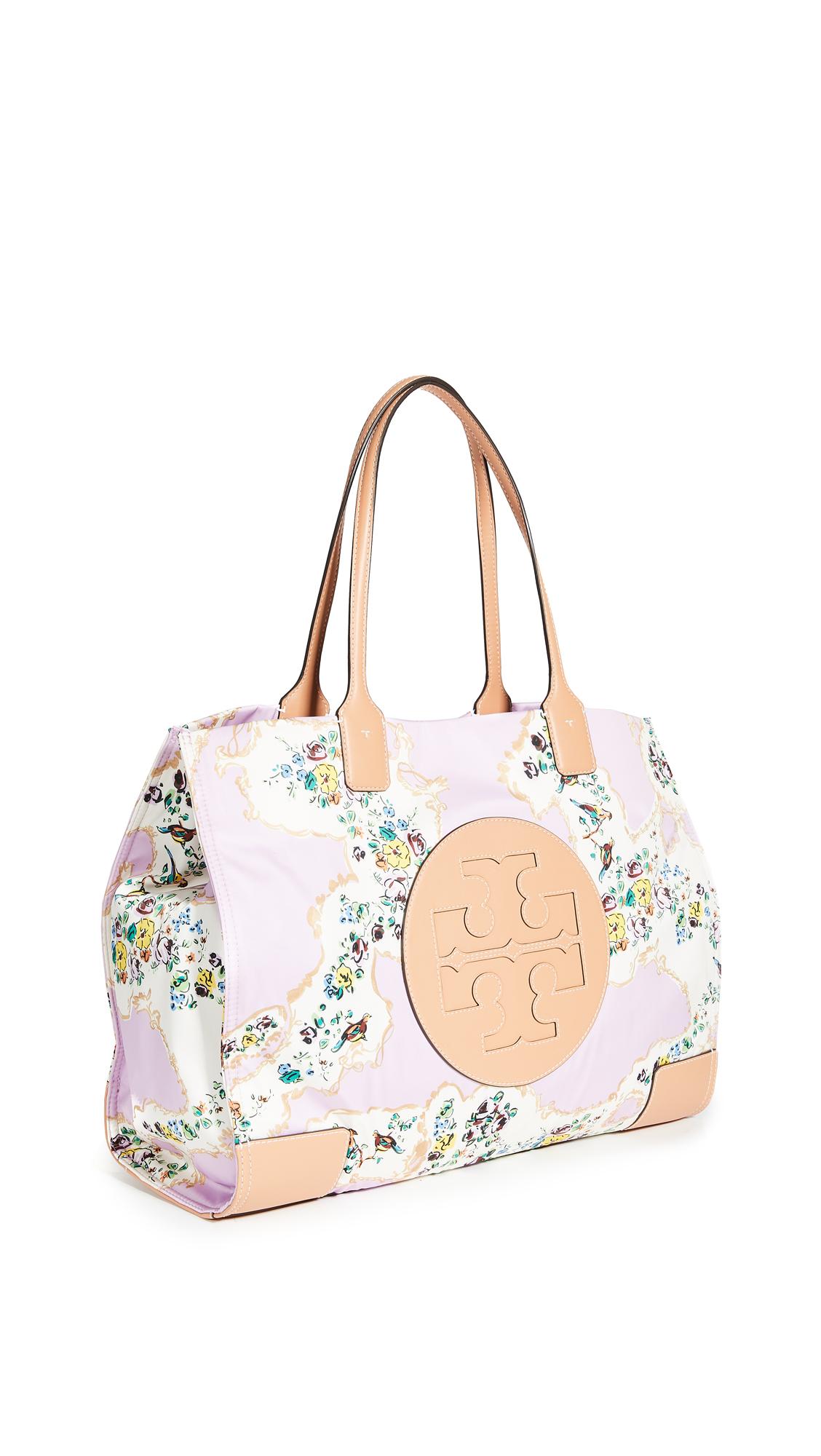 Tory Burch Ella Printed Tote Bag In Pink Porcelain Floral