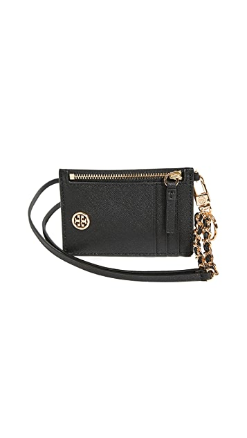 Tory Burch Robinson Lanyard Card Case