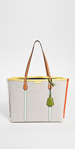Tory Burch - Perry Canvas Triple Compartment Tote