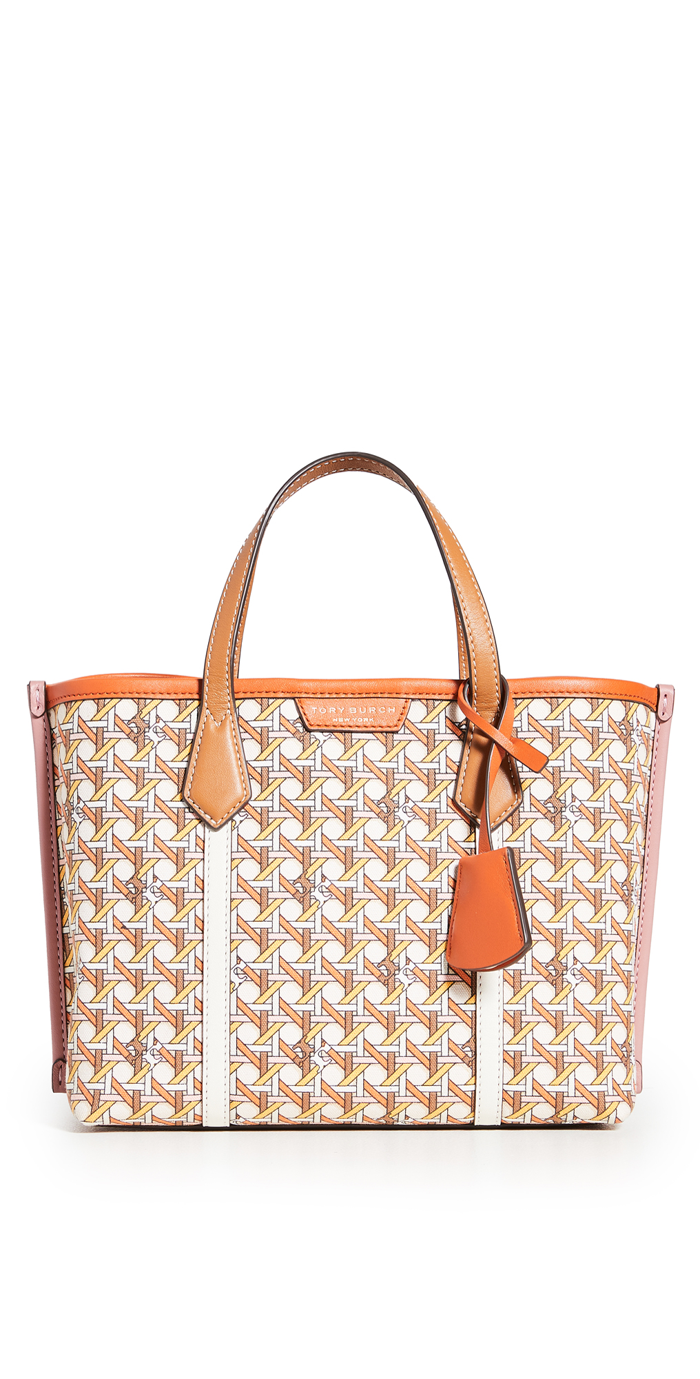 Tory Burch Perry Printed Canvas Small Tote