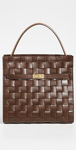 Tory Burch - Lee Radziwill Woven Double Bag