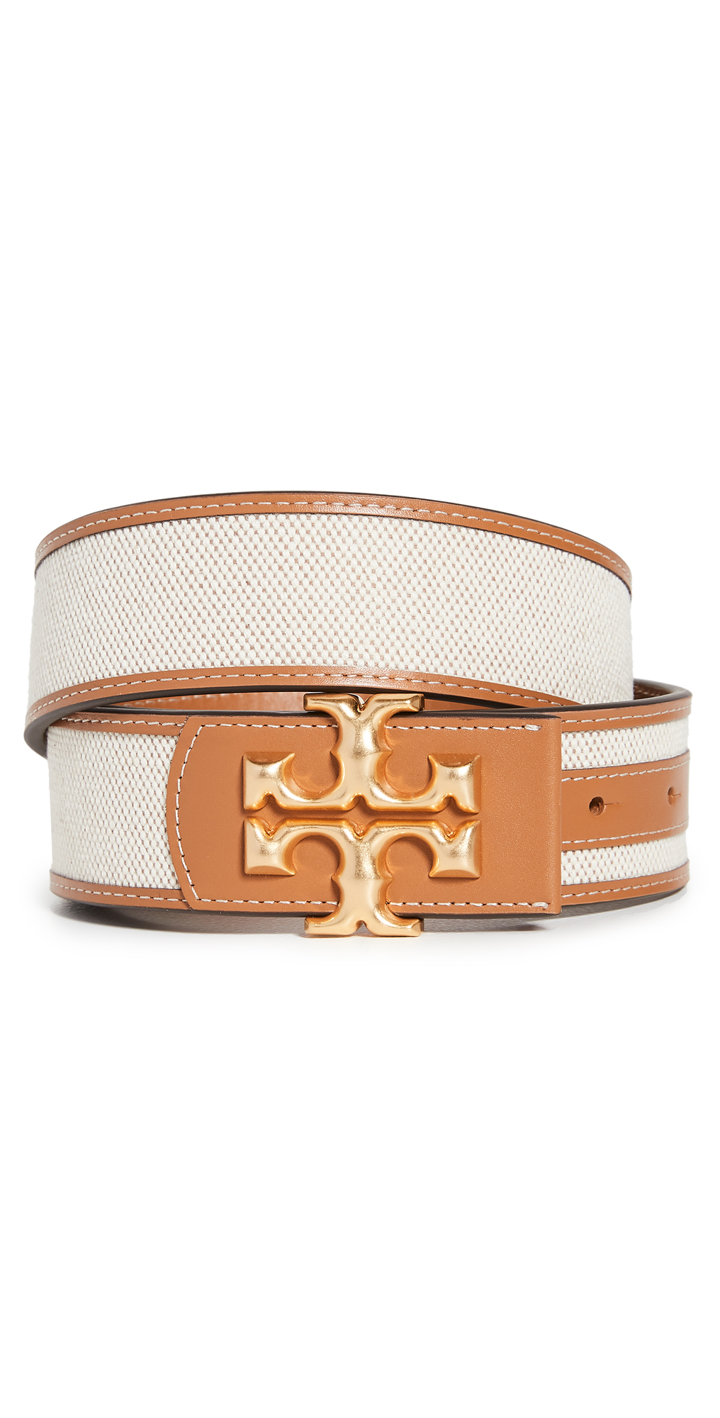 Tory Burch Eleanor Canvas Logo Belt
