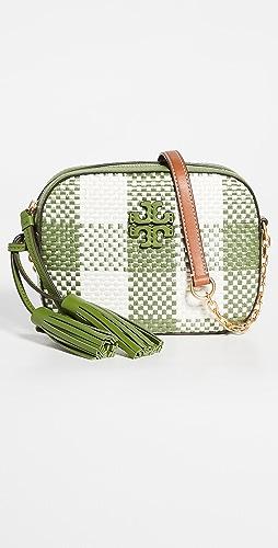 Tory Burch - McGraw Woven Plaid Camera Bag