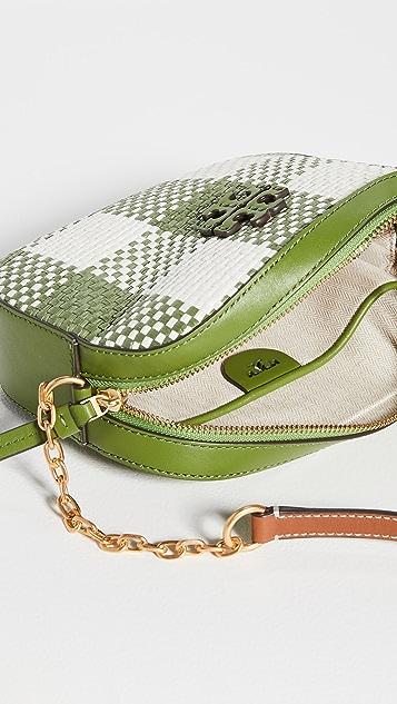 Tory Burch McGraw Woven Plaid Camera Bag