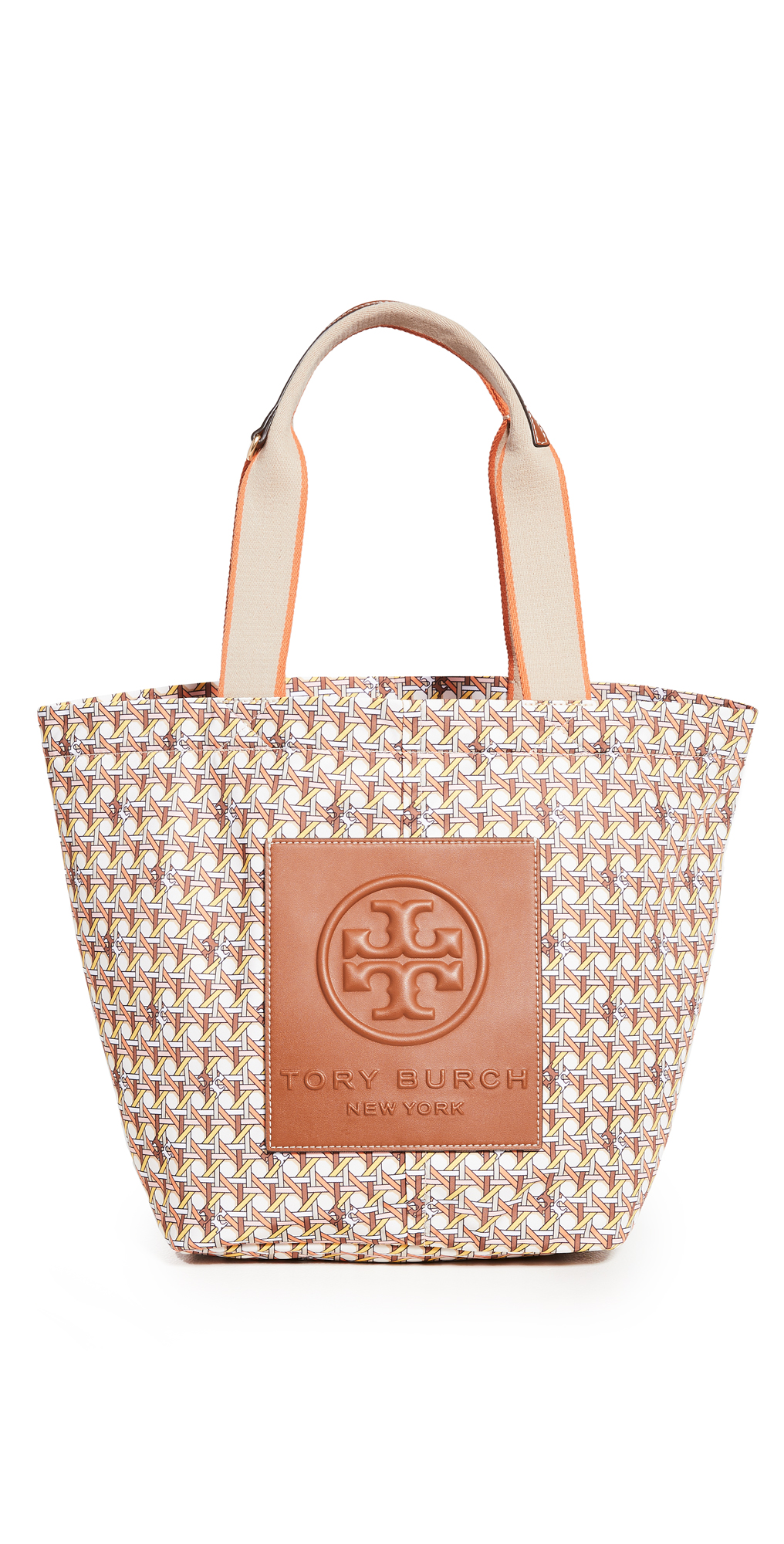 Tory Burch Totes BASKET WEAVE PRINTED SMALL TOTE