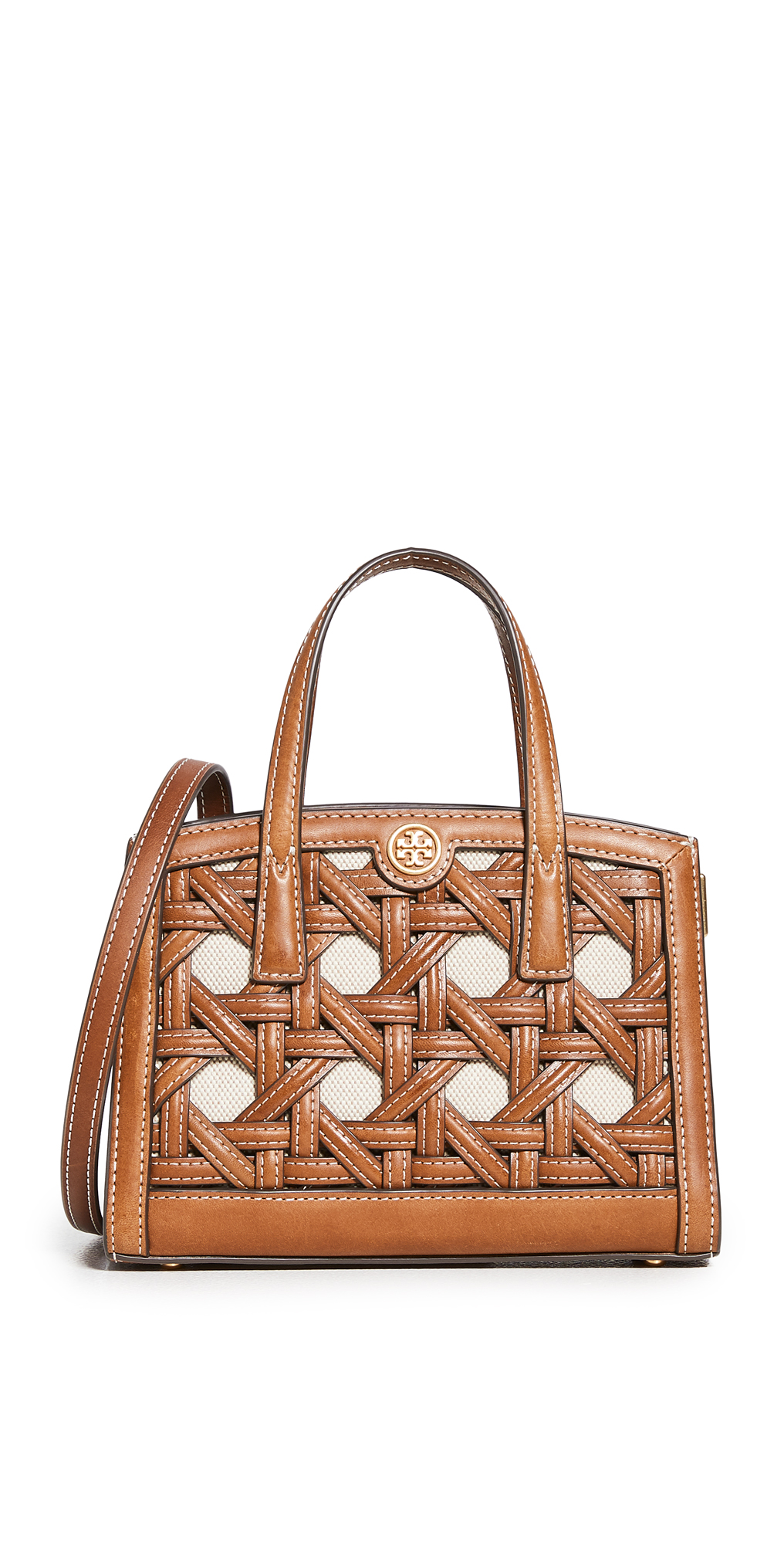 Tory Burch Walker Basket Weave Micro Satchel