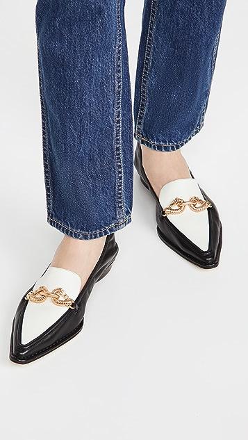 Tory Burch Jessa Pointy Toe 20mm Loafers