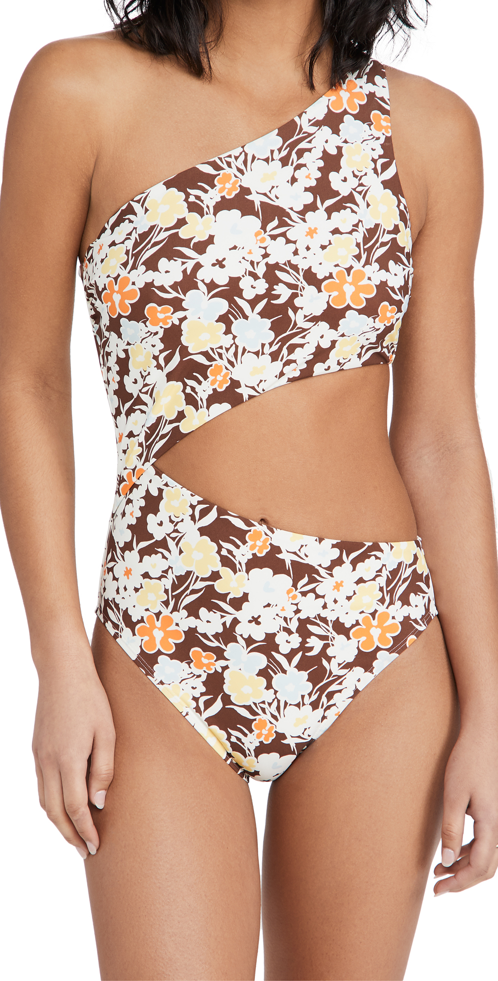 Tory Burch One Shoulder One Piece Swimsuit