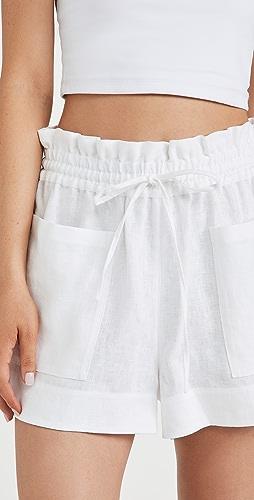 Tory Burch - 亚麻短裤