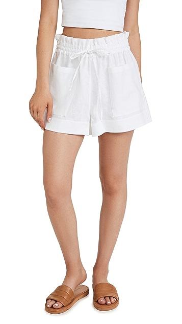 Tory Burch Linen Shorts