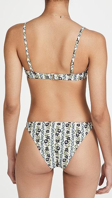 Tory Burch Printed Underwire Bikini Top