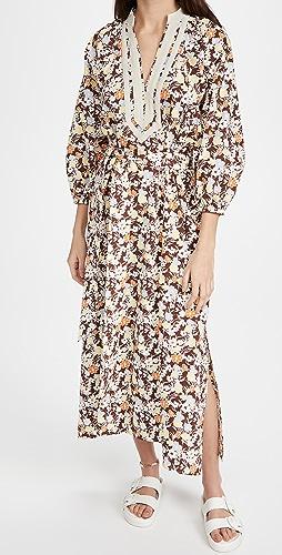 Tory Burch - Printed Puffed Sleeve Tunic Dress