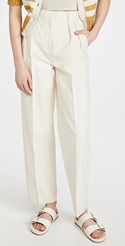 Tory Burch - Canvas Pleated Trousers