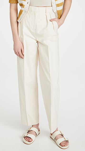 Tory Burch 帆布裥褶长裤
