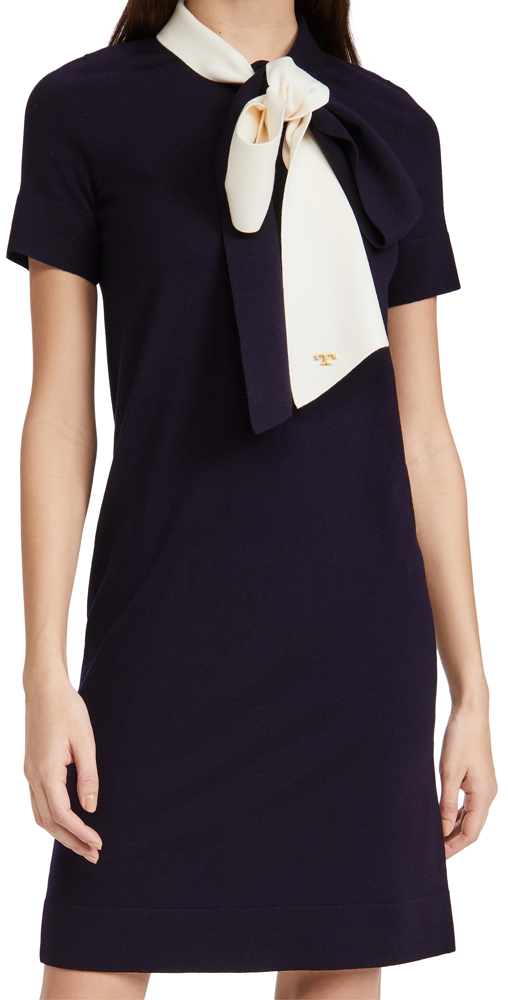 Tory Burch Short Sleeve Bow Sweater Dress