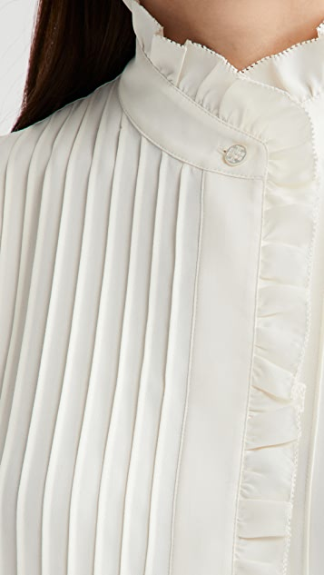 Tory Burch Deneuve 软壳面料女式衬衫