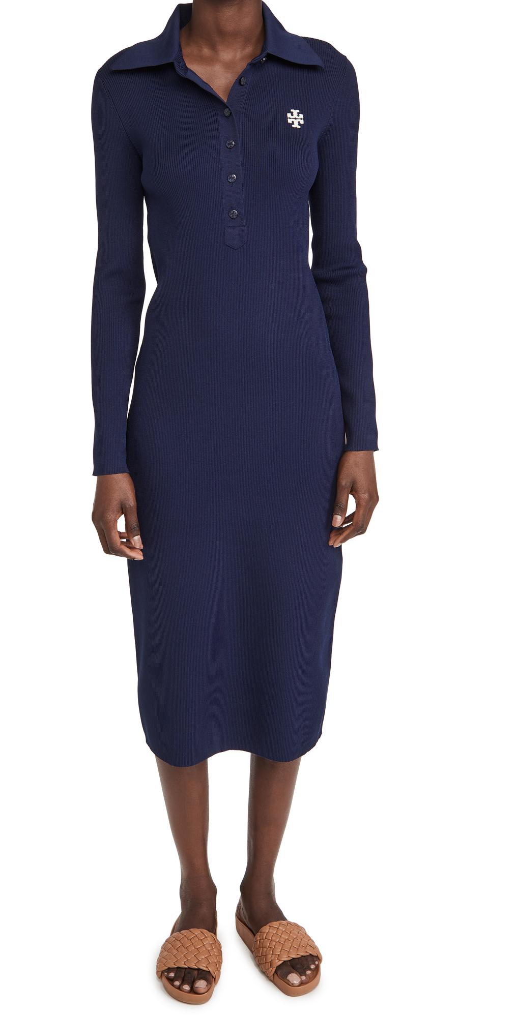 Tory Burch Dresses RIBBED POLO DRESS