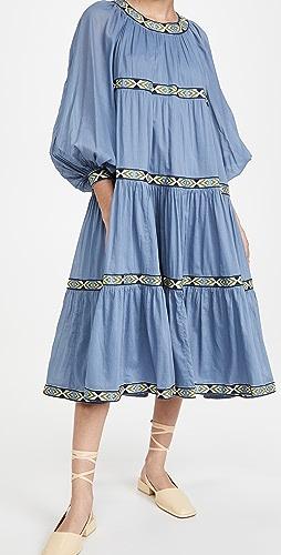 Tory Burch - Puffed Sleeve Dress