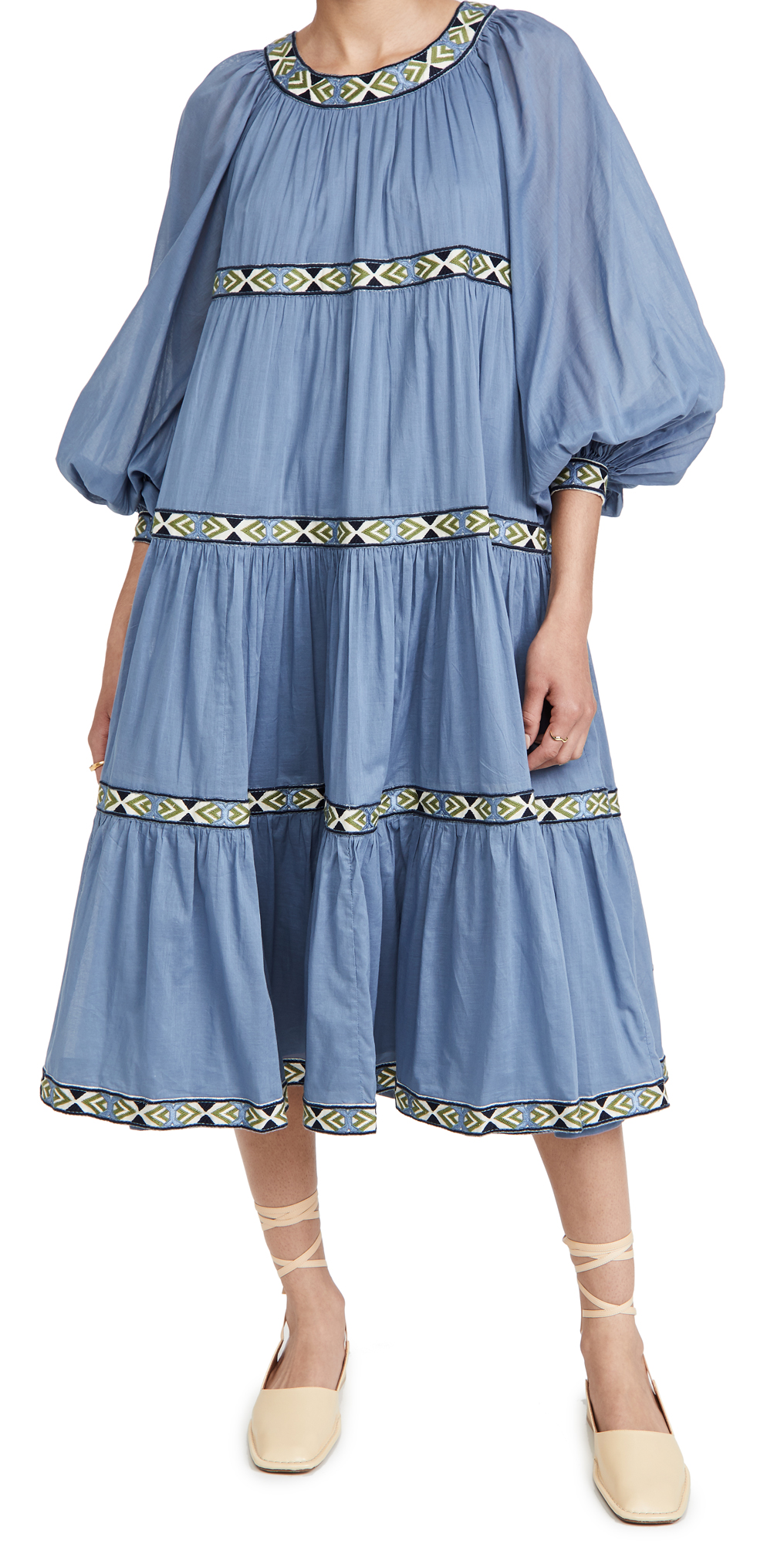 Tory Burch Midi dresses PUFFED SLEEVE DRESS