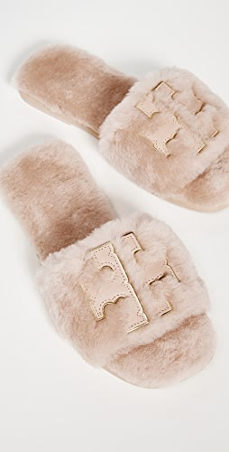 Tory Burch - Sport Shearling Slides