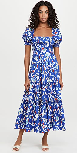 Tory Burch - Smocked Midi Dress