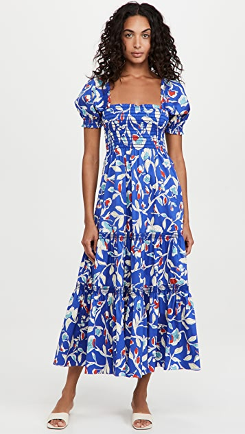 Tory Burch Smocked Midi Dress