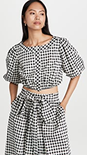 Tory Burch Button Front Printed Blouse