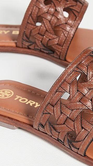Tory Burch Basket Weave Slides