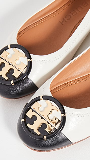 Tory Burch Multi Logo Cap Toe Ballet Flats