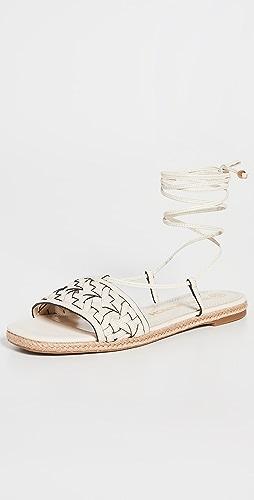 Tory Burch - 篮式梭织麻编鞋