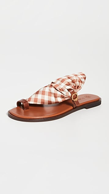 Tory Burch 汤丽柏琦 Selby Scarf 凉鞋