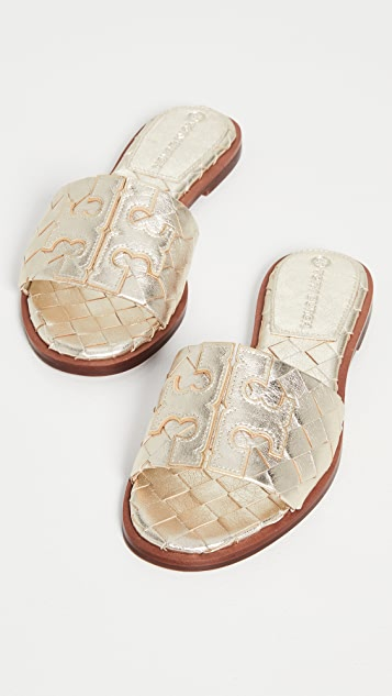 Tory Burch Ines Woven Slides