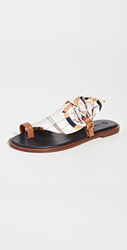 Tory Burch - Selby Scarf Sandals