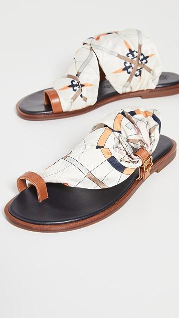 Tory Burch Selby Scarf 凉鞋