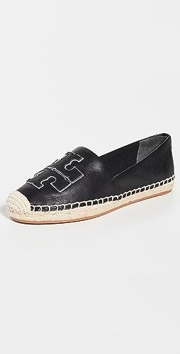Tory Burch - Ines 编织底坡跟绑带凉鞋