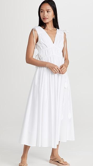 Tory Burch Sleeveless Smocked Dress