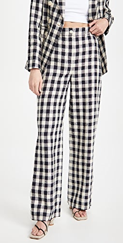 Tory Burch - Linen Gingham Pants
