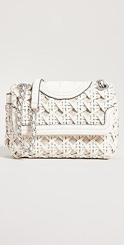 Tory Burch - Fleming Soft Basket Weave Small Shoulder Bag