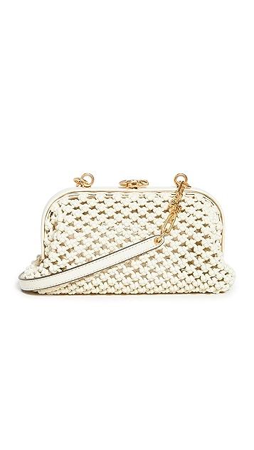 Tory Burch Cleo Macrame Woven Mini Bag