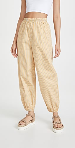 Tory Burch - Striped Elastic Waist Pants