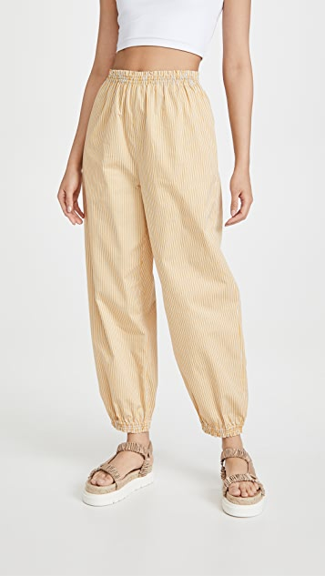 Tory Burch Striped Elastic Waist Pants