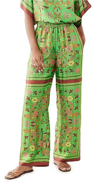Tory Burch Silk Scarf Pants